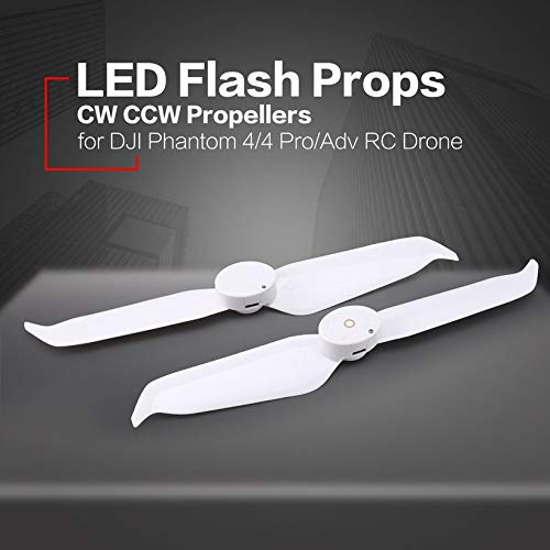 Wikiwand LED Flash CW CCW Propellers Props Part for Phantom 4/4 Pro/Adv/ RC Drone