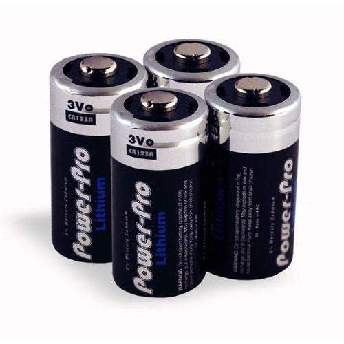 Dakota Alert 4-Pack of 3V Lithium Batteries CR123A for MAPS-MURS Alert Probe Sensor, DCPA-4000, DCPT-4000, DCPT-2500 Transmitters