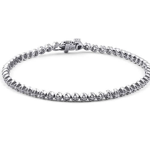 1ct Diamond Classic Tennis Bracelet 10k White Gold (10k Gold Tennis Bracelet)