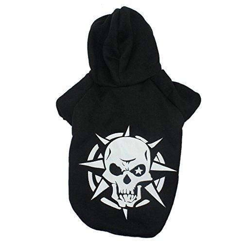 Modern Skull Hunde Haustier Pullover Putzenpullover Bekleidung Kleidung (Schwarz XL)