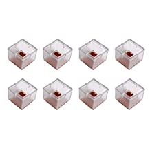 Andux 8Pcs/Set Square Bottom Silicone Wood Floor Protectors Chair Leg Caps Furniture Feet Pads Table Covers Anti-slip Prevent Scratches.(Clear)-GJZJD-01 (8 #)