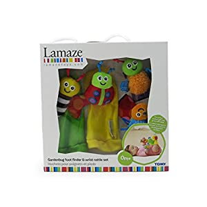 Lamaze Gardenbug Footfinder Wrist Rattle Set