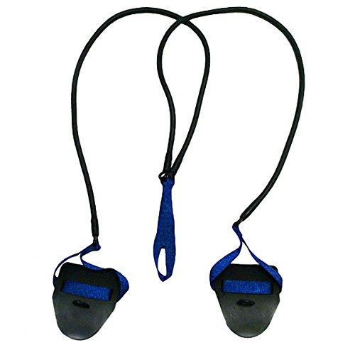 StretchCordz with Paddles, Blue (Swim Training Halo)