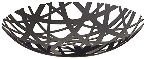 (Red Co. Decorative Centerpiece Bowl in Black - Powder-Coated Steel )