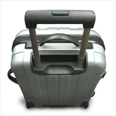 Traveler's Choice Rome 3-Piece Hardshell Spinner/Rolling Luggage Set (Silver)