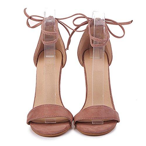 Mujer de Sandals Rosa Tobillo de Charol Jamicy Tira WYvHqFz
