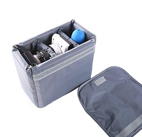Waterproof Shockproof Partition Padded Camera Bags SLR DSLR TLR Insert Protection Case for DSLR Shot Or Flash Light (Small)