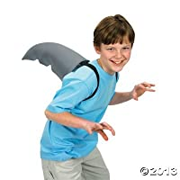"""Polyester Shark Fin Costume Accessory. With 2 elastic straps. (1 pc./PBH) 12"""""""