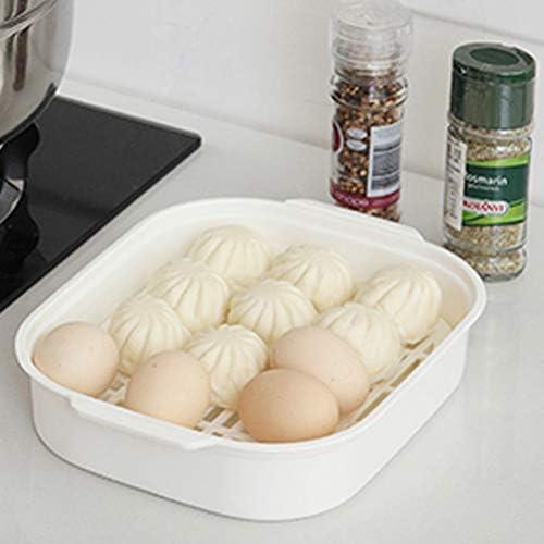 41nfMzw HgL. AC UPKOCH Microwave Food Steamer Cooking Steamer Basket for Fish Vegetable Buns(Random color)    Description