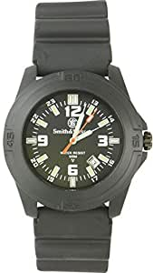 Smith & Wesson Men's SWW-12T-R Soldier Tritium H3 Black Rubber Strap Watch