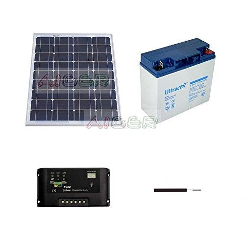 Kit fotovoltaico de 50 W a 12 V
