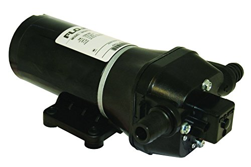 Flojet 04305144L Deck Washdown Pump with Nozzle, 3.5 GPM, 40 PSI, 12 Volt, 10 Amp