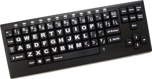 Chester Creek, Wireless large-key keyboard BLACK KEYS WITH WHITE LETTERS (Catalog Category: Input Devices-Wireless / Keyboards- Wireless)