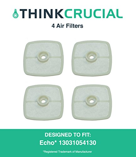 "4 High Quality Echo 13031054130, Stens 102-565 and Mantis 130310-54130 Air Filters, 2 5/8"" x 2 9/16"" x 9/16"" in. by Think Crucial"