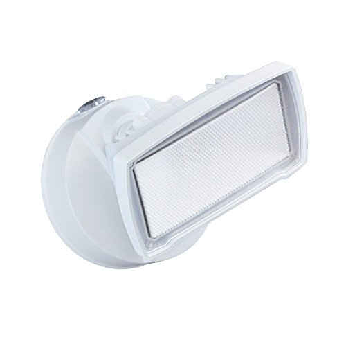 Good Earth Lighting One Head LED Dusk to Dawn Security Flood Light - Bright White Light - 50,000 Hours Lamp Life - Direct Wire Installation - Energy Star - White