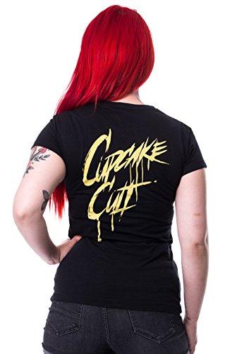 Camiseta Cupcake Cult Flame Skinny (Negro) Negro