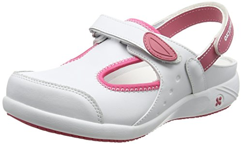 Oxypas Move Carin Slip-resistant, Antistatic Nursing Shoes, White (Fux) , 6.5 UK (EU: 40)