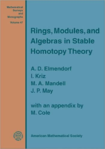 RINGS, MODULES, AND ALGEBRAS IN STABLE HOMOTOPY THEORY (Mathematical Surveys and Monographs 47)