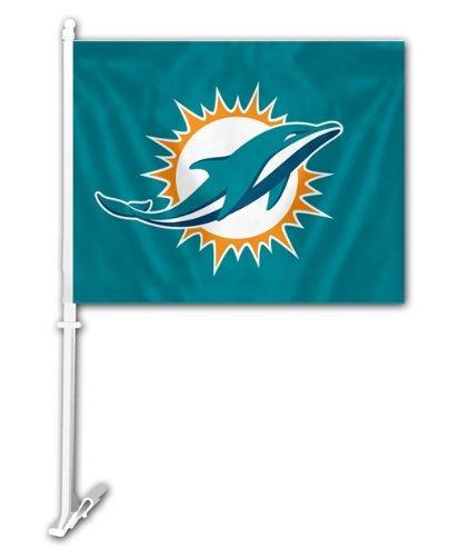 Dolphins Car Flag