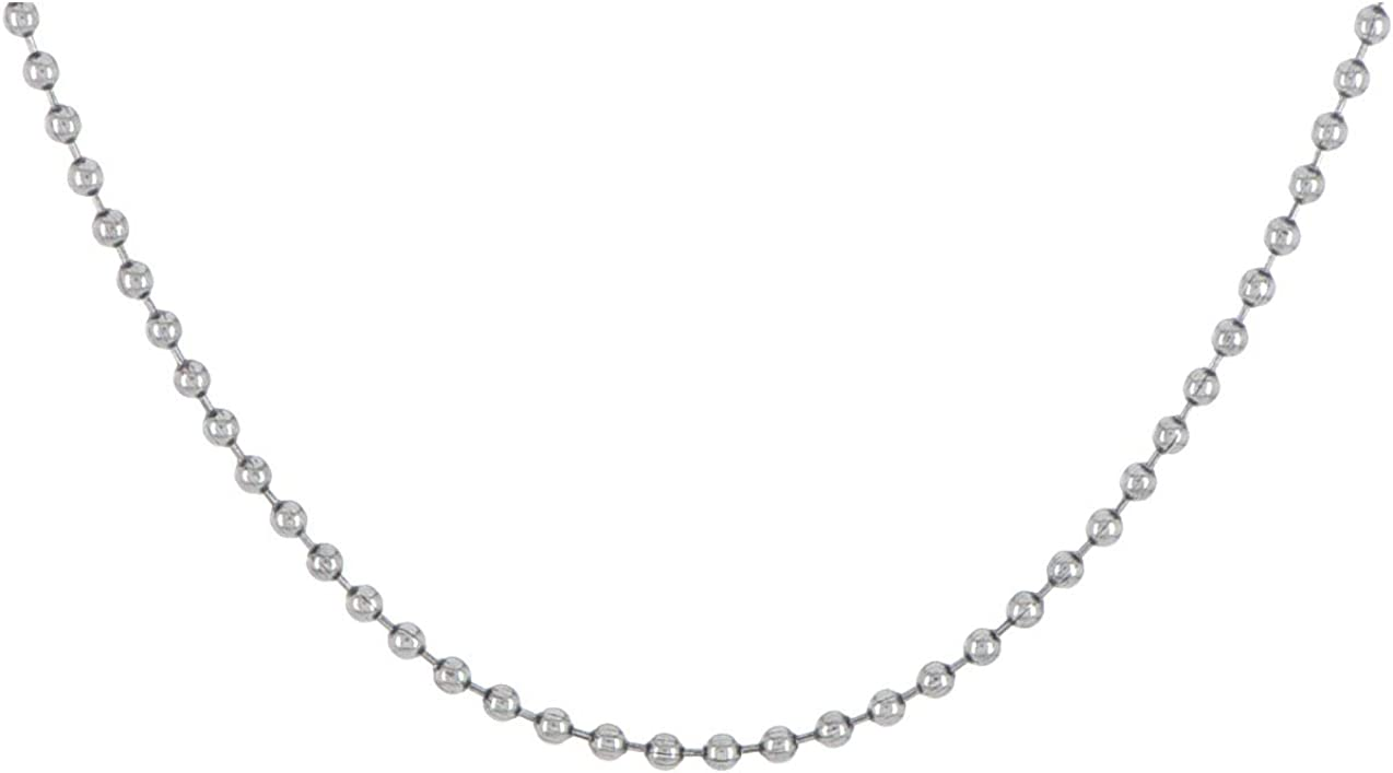 Antiqued Stainless Steel 2.4mm Beaded Ball Chain 24