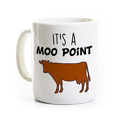 Funny Friends Show Coffee Mug - It's a Moo Point - Classic Line from Joey from Friends