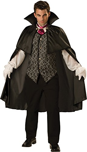 Vampire Costumes For Couples (Midnight Vampire Costume - Large - Chest Size 42-44)