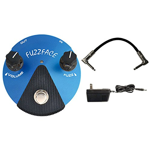Dunlop FFM1 SILICON FUZZ FACE MINI Pedal w/ 9V Power Supply and Patch Cable