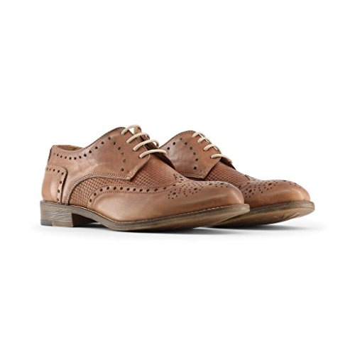 Lacets De in Homme LIVIO Marron Ville Italia Chaussures Made Brogue À nqa8wAX
