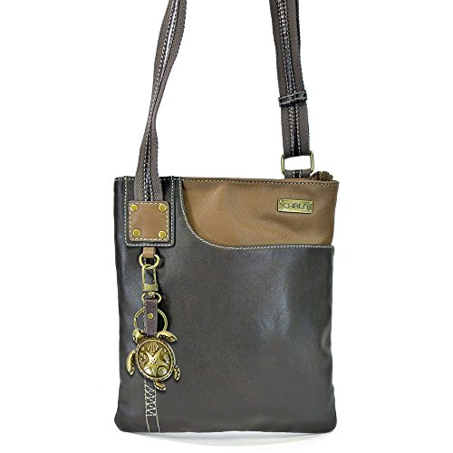 Mini with Keychain Metal Small Brown SWING turtle Purse Chala Cross Body Pack Dark x8qzYOF