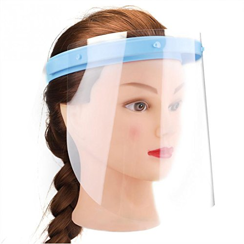 Wecando Anti-fog Adjustable Dental Full Face Shield 10 Plastic Protective Film ()