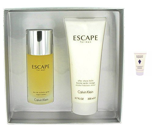 Calvín Kléin Escapé Men Gift Set - 3.4 oz Eau De Toilette Spray + 6.7 oz After Shave + a FREE 1.7 oz Body Wash - Escape Men After Shave