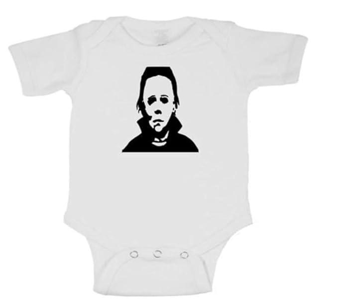 56cbbdc7 Merch Massacre Michael Myers Halloween Bodysuit Infant Toddler Baby Creeper  (Newborn) White