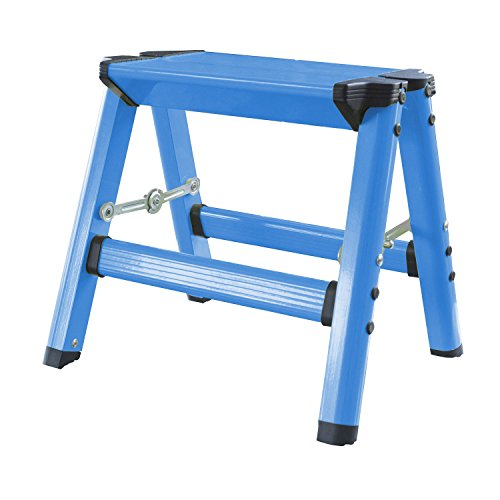 Lightweight Single Step Aluminum Step Stool in Neon Blue by Buffalo Tools