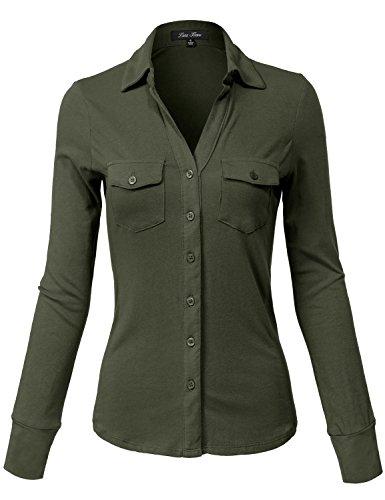 Stretch Button Up Shirt - 7