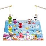 新品 ! 釣りおもちゃ さかなつり 木製のおもちゃ 幼児教育用品 誕生日のプレゼント 子供パズル 知育玩具 幼児教育アプリシリーズ 知識を増すおもちゃ雑貨 木制品 wanj0087 (2)