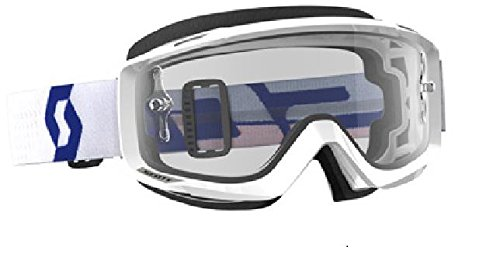 Scott Split OTG Adult Off-Road Motorcycle Goggles - White/Red/Clear/One Size