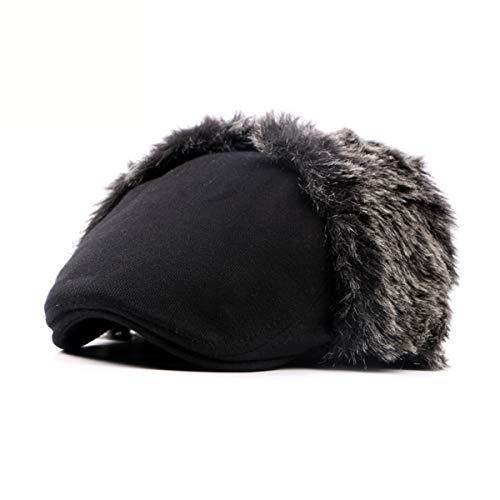 noreste Sombreros Invierno Sombrero Boina y hat D D Mediana Caliente del algodón e Gorro otoño qin de Edad de GLLH Viejo Orejeras x0nRwAqIA