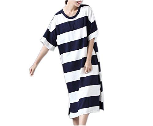 Vestido De La Manera De Gran Tamaño Sueltos HGDRSpring Y Verano De Las Mujeres B
