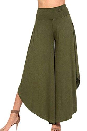 Baggy Monocromo Pantaloni Libero Nero Accogliente Gonna Culotte Larghi Pantalone Estivi High Donna di Tempo Pantaloni Pantaloni Pantalone Waist marca Palazzo Mode Moda Eleganti wBqpat