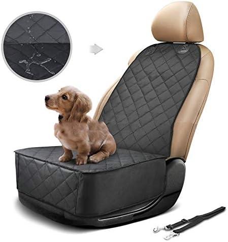 フロントローシングルシートカーマットペットパッドオックスフォード布ダストパッドカードッグアンチスキッドカバー B20/05/14 (Color : Black, Size : 52x102cm)