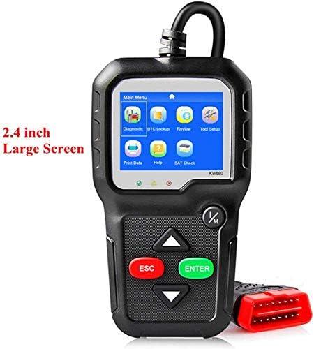 ZGYQGOO OBD2 Auto Diagnosescanner Volle OBD2 Funktion Für Motor Fehlercode Lesen Und Erkennen Batteriespannung Upgrade Version Schwarz