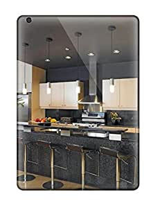 Earurns Perfect Tpu Case For Ipad Air/ Anti-scratch Protector Case (black Contemporary Kitchen With Counter Seating)
