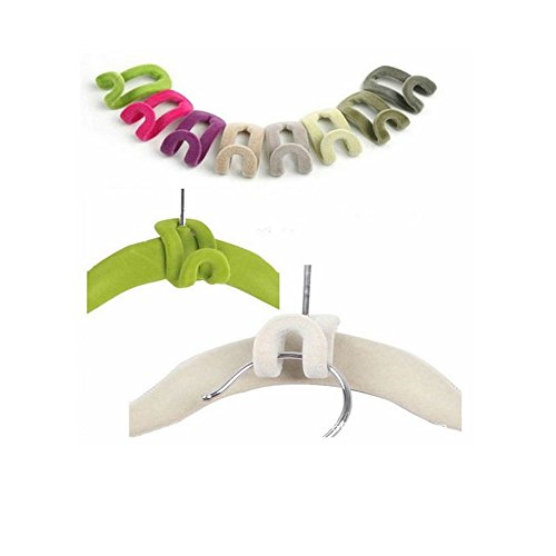 jxule-home-creative-mini-flocking-clothes-hanger-easy-hook-closet-organizer-pack-of-10