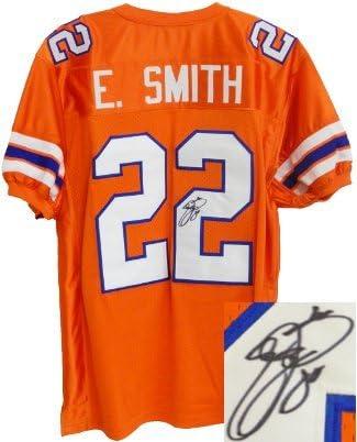 Emmitt Smith signed Florida Gators Orange TB Custom Jersey- Smith ...