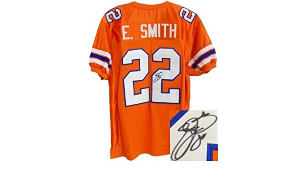 c601c7467a6 Emmitt Smith signed Florida Gators Orange TB Custom Jersey- Smith Hologram  at Amazon's Sports Collectibles Store