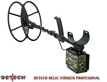 DETECH Detector de Metales Relic Striker 4,8 kHz VLF con Bobina SEF de 18