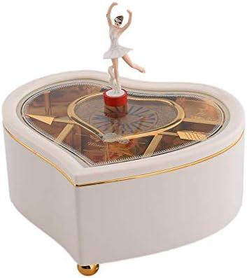 Loveinwinter Forma de coraz/ón Caja de m/úsica Caja de Joyas de la m/úsica Caja de Regalo de m/úsica Regalo de cumplea/ños de Vacaciones