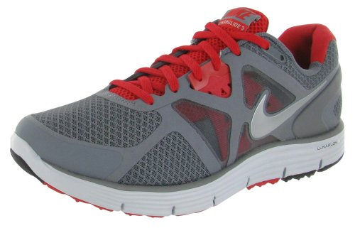 faa4ed64cb199 Nike Lunarglide 3 Grey Red Mens Lightweight Running Shoes 454164-002 - Buy  Online in KSA. Shoes products in Saudi Arabia. See Prices