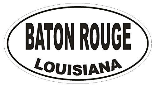 Baton Rouge Louisiana Oval Vinyl Bumper Sticker Decal D1668 Euro Oval ()