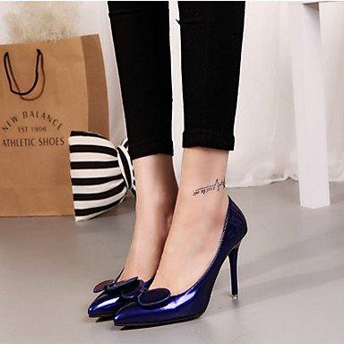 pwne La Mujer Tacones Zapatos Club Pu Primavera Verano Boda &Amp; Traje De Noche Casual Stiletto Talón Borgoña Azul Rojo Púrpura Negro 3A-3 3/4 Pulg. US5.5 / EU36 / UK3.5 / CN35